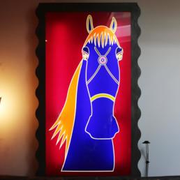 ANNA GILI LIGHT PAINTINGS, HORSE