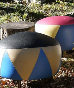 Pouf in ecopelle by Anna Gili