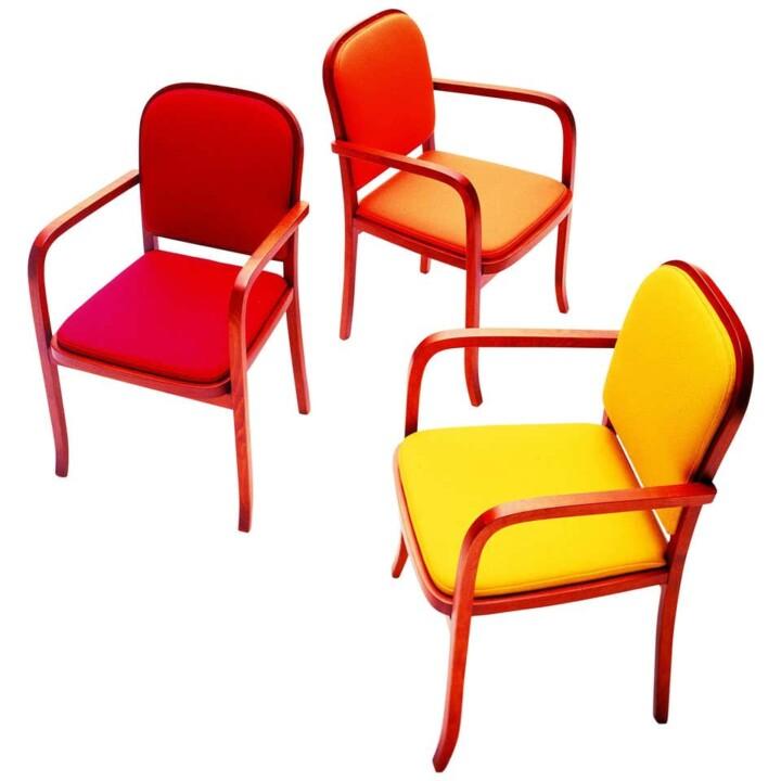 Sedia Classica Contemporanea Design by Anna Gili Sedia in tessuto Made in Italy